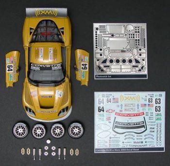Scalehobbyist.com: 2006 Corvette C6R Lemans Race Car Kit Builders meradlom Motorsports
