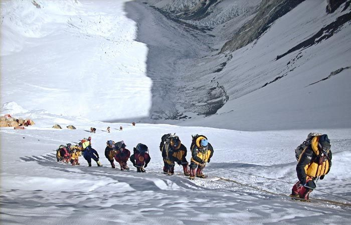 Expedition on Mount Everest.