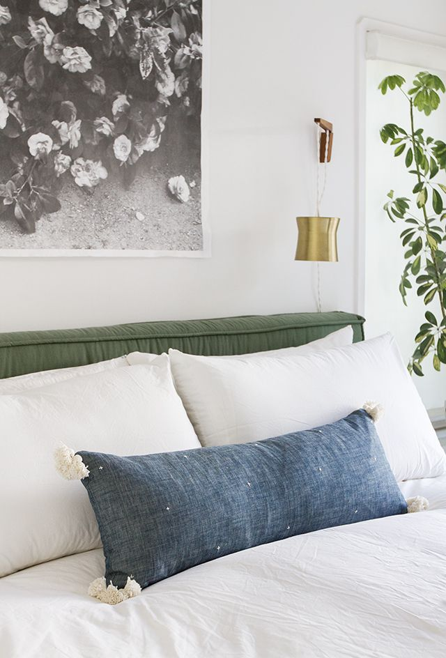 DIY chambray lumbar pillow // Sarah Sherman Samuel