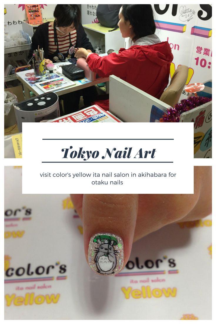 cutest nail art at Don Quijote in Akihabara #tokyo #nailart #totoro #Akihabara #travel #kawaii