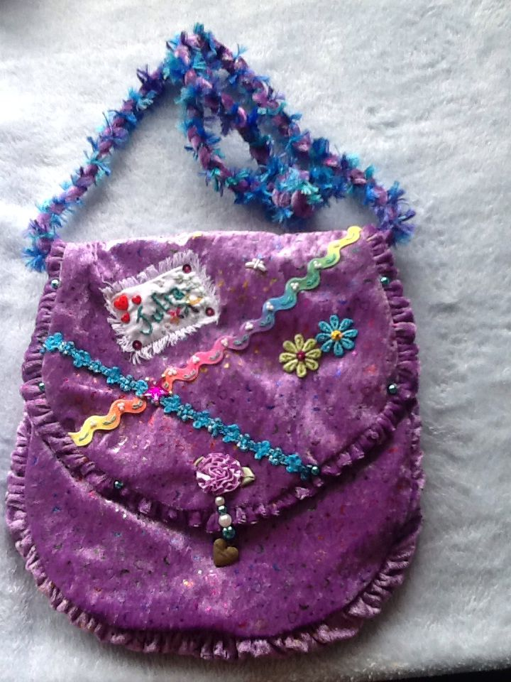 Used penne velvet. Made by Shelley Nicholls. Made for my great niece.