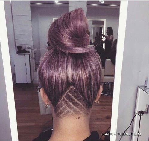 Light Purple Hair with an Undercut