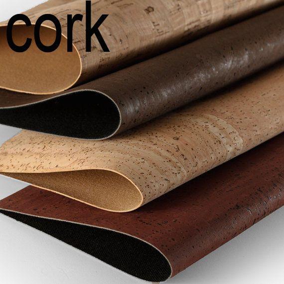 MB Cork Portuguese original brown dark red natural rustic  Cork Fabric…