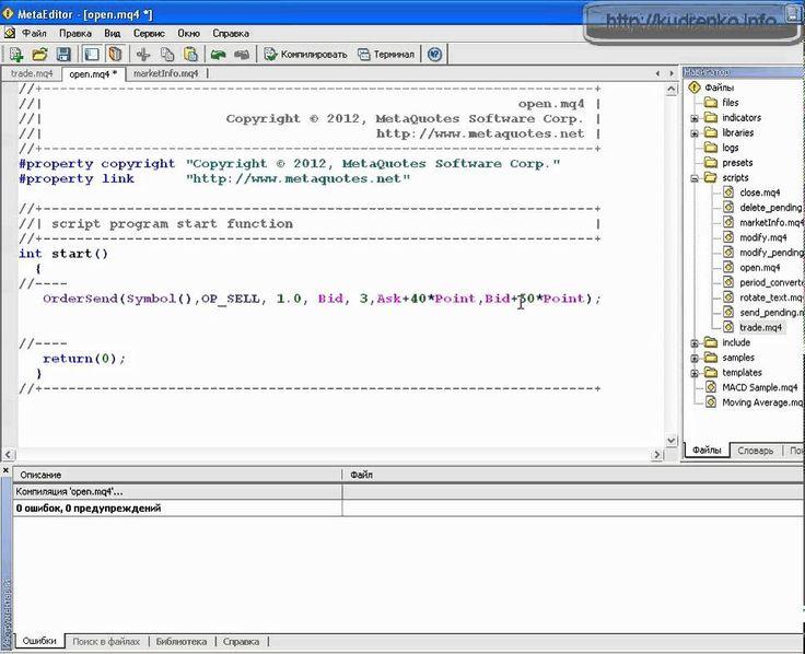 MQL4. Выставляем StopLoss и TakeProfit. Урок 3.