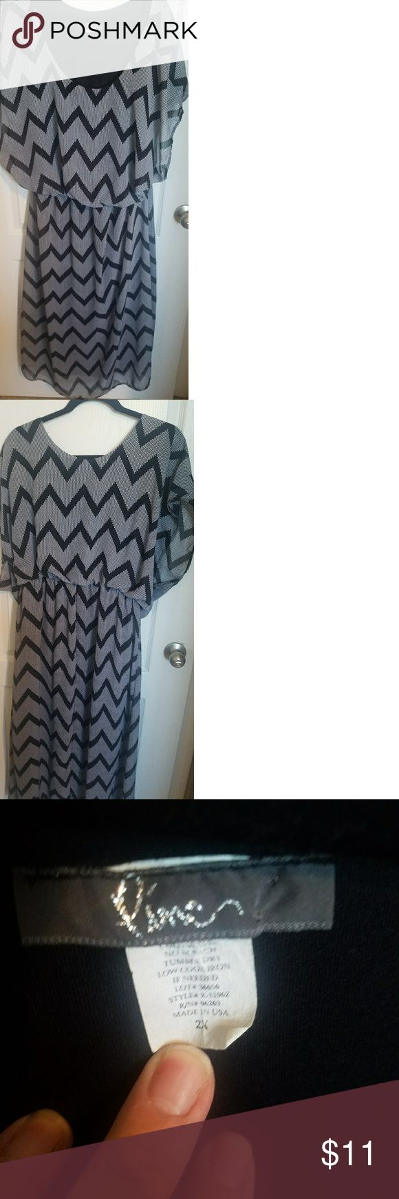Chevron print dress Size 2x great dress for the office or casual dinner outing fit nicely plus size 2x piner Dresses Asymmetrical
