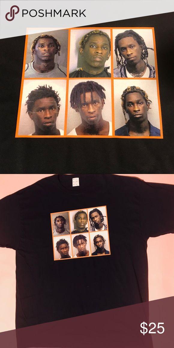 "YOUNG THUG THUG SHOTS STREETWEAR T SHIRT Young Thug ""THUG SHOTS""  100% cotton T shirt - Brand new never worn #thugshots #youngthug #thugger #streetwear #street #style #hiphop #supreme #uo #adidas Vintage Shirts Tees - Short Sleeve"