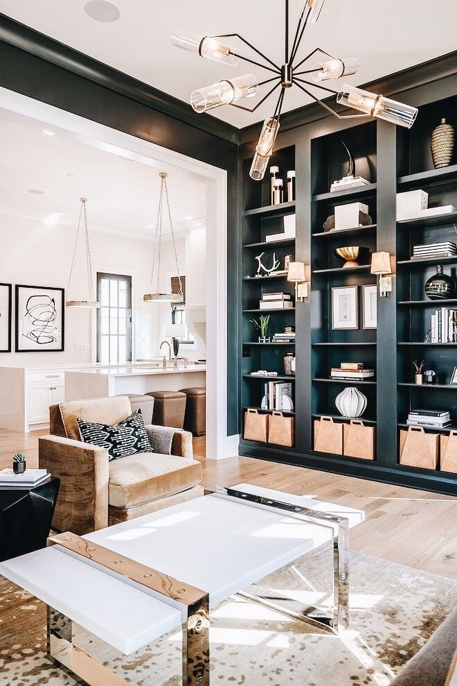 living room design with floor to ceiling bookcases modern interior rh pinterest com