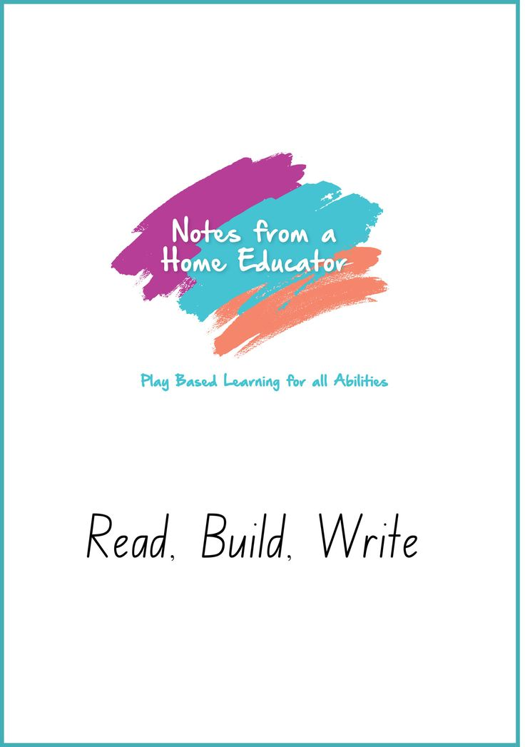 Read, Build, Write - Printable – Notes From a Home Educator
