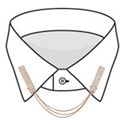 Collier pour col de chemise, strass, coloris doré rose L : 19 cm