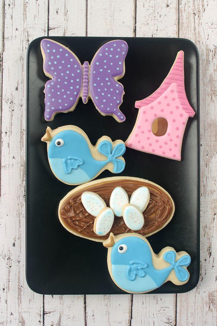 Bird Egg Decorated Cookies (Tutorial)