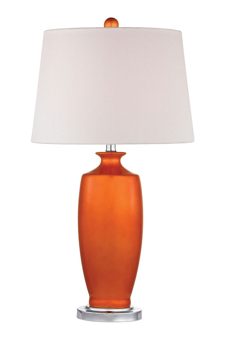 Glass mermaid sitting on conch shell accent lamp eclectic table lamps - Tangerine Orange Halisham Table Lamp Available From Seasidebeachdecor Com