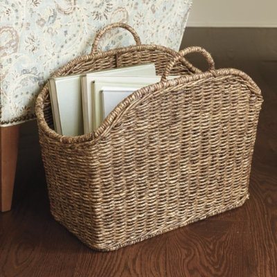 Catch All Basket from Ballard Designs. Swoon. I know, I just swooned over a basket, but let's face it - it's a pretty amazing basket.
