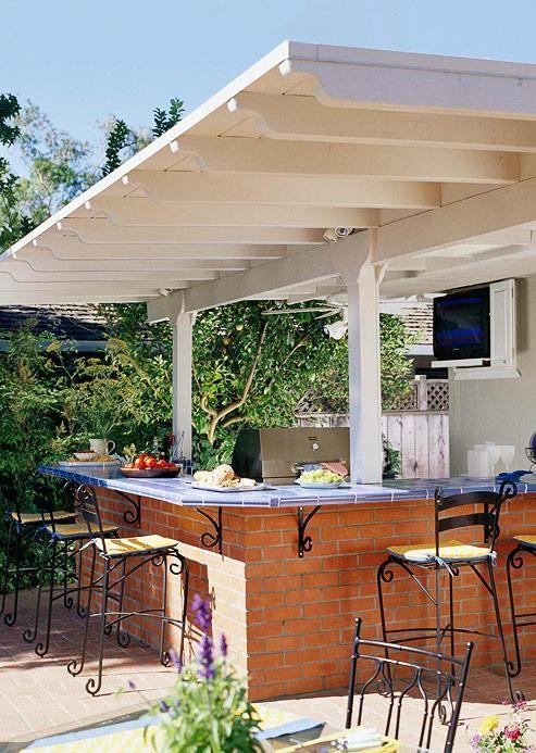 Best 25+ Outdoor kitchen bars ideas on Pinterest | Backyard ...