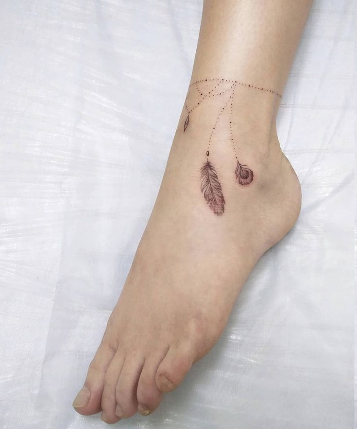 1001+ Fuß Tattoo Kette Inspirationen, die die besten Zier