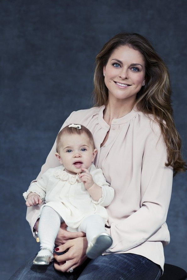 Princess Madeleine of Sweden with daughter Princess Leonore
