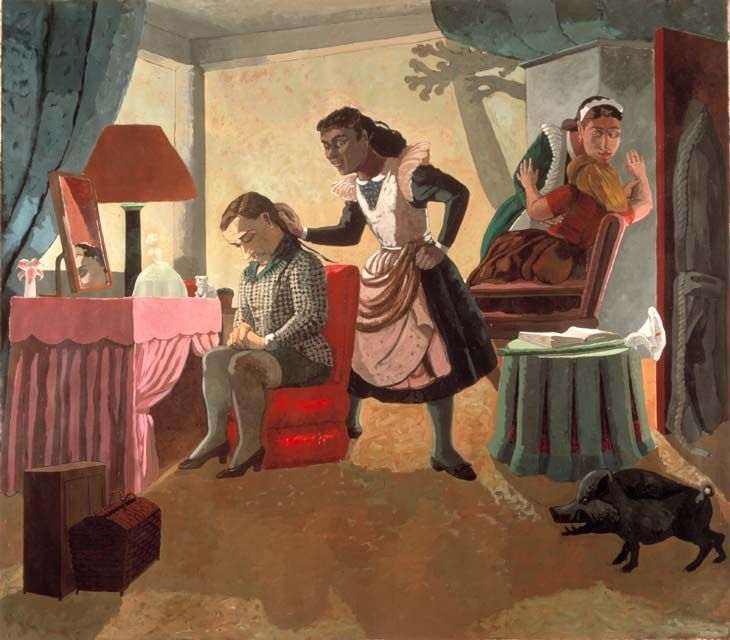 Paula Rego -The Maids 1987  Acrylic on canvas-backed paper  213 x 244 cm
