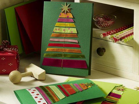 Biglietto con albero di Natale