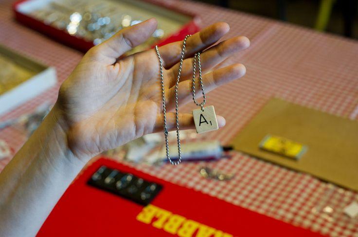 Scrabble ketting / Scrabble necklace