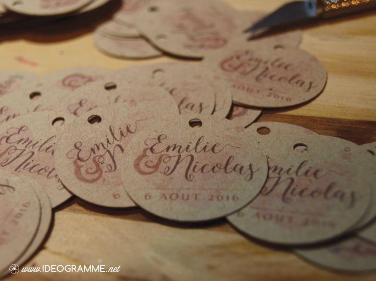 Etiquette pour bocal à dragée - Décoration Mariage - www.ideogramme.net