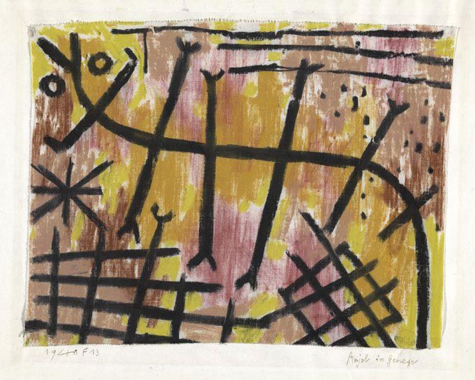 ≪柵の中のワラジムシ≫1940年 パウル・クレー・センター(ベルン)蔵