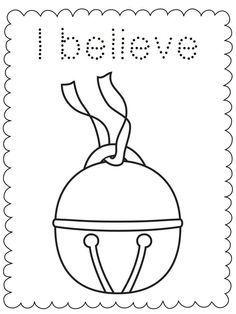 I Believe Bell-Polar Express-Coloring Sheet