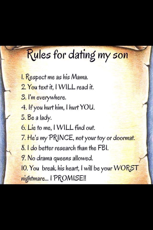 Tough love 100 rules for dating