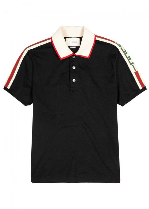 263a1a254bfb70 GUCCI STRIPED-TRIM STRETCH PIQUÉ COTTON POLO SHIRT. #gucci #cloth ...