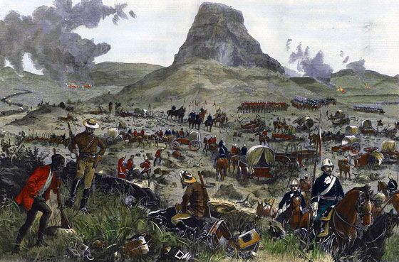 21st May 1879: Chelmsford's column returns to bury the dead from the Battle of Isandlwana and to retrieve the wagons