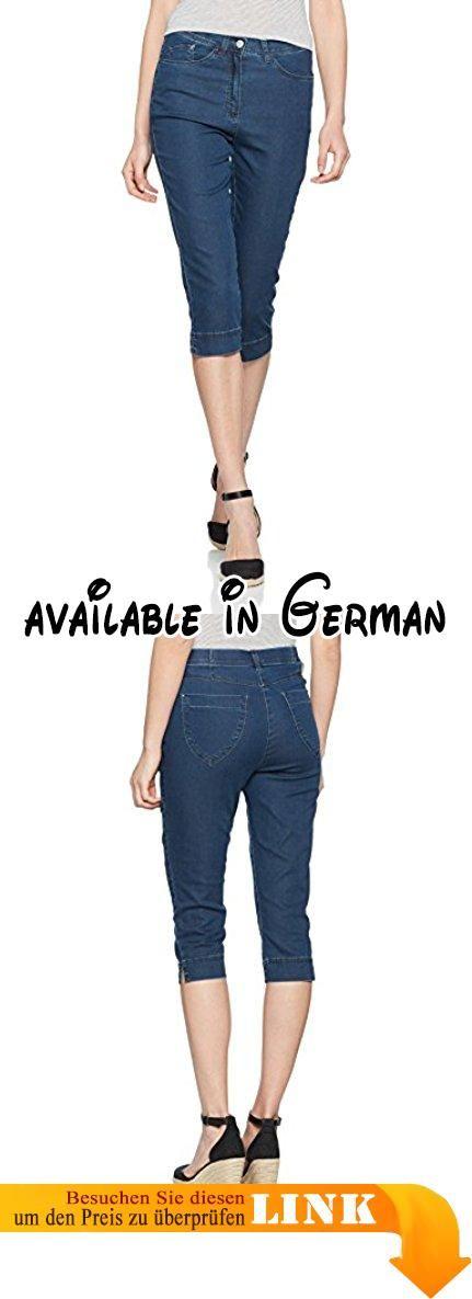 Raphaela by Brax Damen Skinny Jeans Laura Short Blau (Stoned 25), W27/L32 (Herstellergröße: 36). Zauberjeans: Schmale Caprihose in hochelastischer Denim-Qualität. Innovativer Materialmix, extrem hohe Elastizität, haut und tragefreundlich, hoher Tragekomfort, angenehmer Griff #Apparel #PANTS