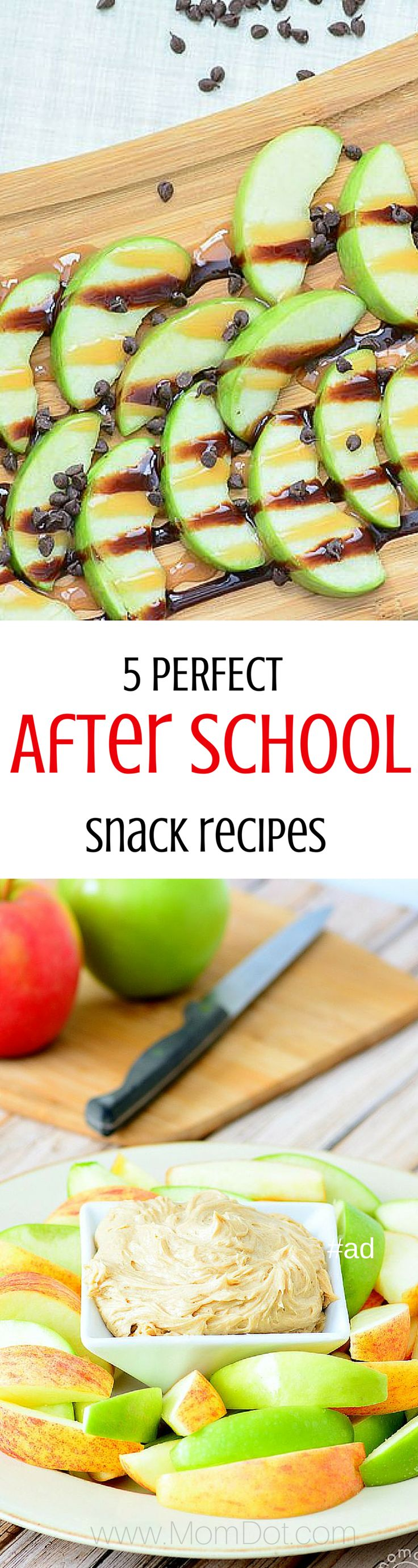 5 Delicious and perfect after school apple recipes - full recipes listed with pictures for each one. Great to curb the before dinner blues!