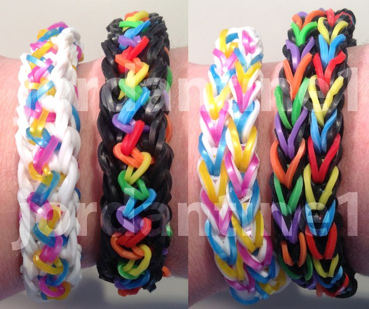 New Inspire Bracelet - Reversible - Use Rainbow Loom, Bandaloom, Wonder Loom.  How to Video Tutorial.