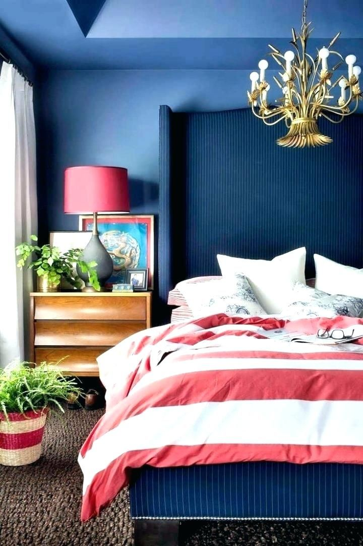 Navy And Light Blue Bedroom Walls Bedding Headboard Color Decorating Ideas