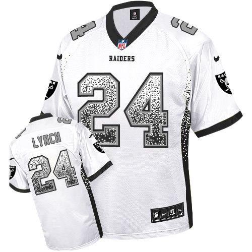 raiders 24 marshawn lynch white mens stitched nfl elite drift fashion jersey jets leonard williams 92 jersey nike raiders khalil mack black team color