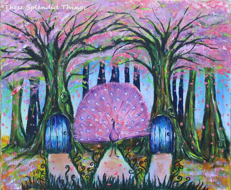 Purple peacock painted in oils and acrylics. Magical land, whimsical paintings, fantasy art. Another world. Fine art, Surreal art, art life, purple art, illustration.  (scheduled via http://www.tailwindapp.com?utm_source=pinterest&utm_medium=twpin&utm_content=post197726017&utm_campaign=scheduler_attribution)