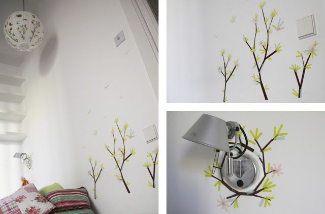 17 best images about washi tape wall art on pinterest for Washi tape wall art