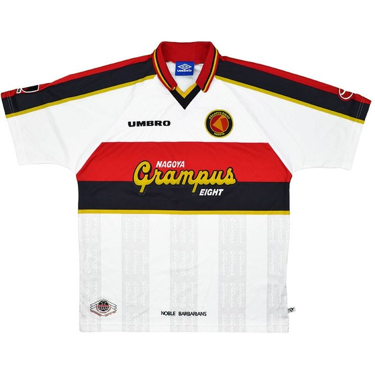 1996-98 Nagoya Grampus Eight Away Shirt (Excellent) XL - Rest Of The World - Classic Retro Vintage Football Shirts