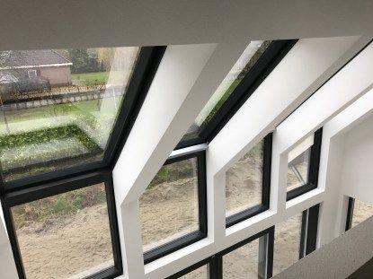 Schuurwoning met doorlopend glas in het dak - Bongers Architecten BNA