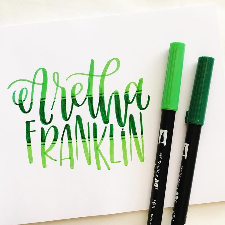Lettering by @paigefirnberg using @tombowusa Dual Brush Pens