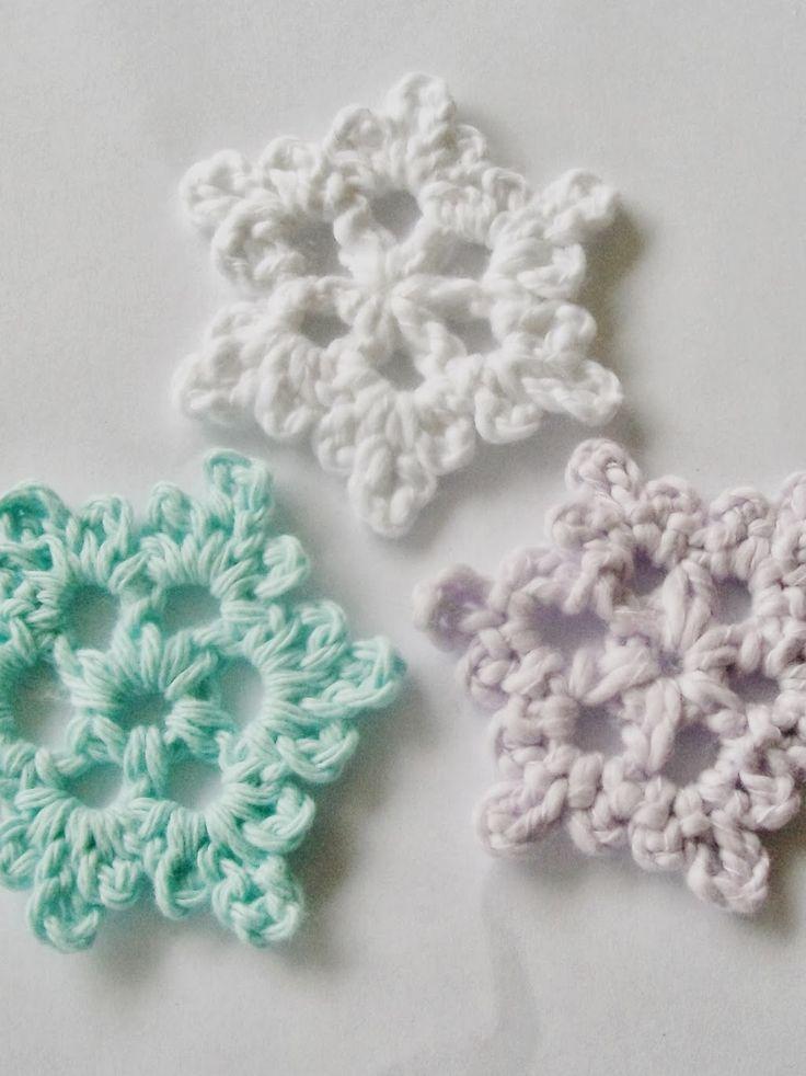 Fácil Crochet Snowflake Fácil Crochet SnowyFlake Padrão G Hook rec ...