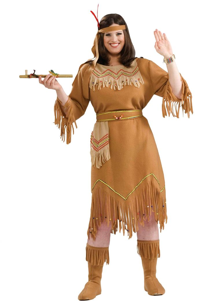 Plus Size Native American Costume  Halloween For James -8512