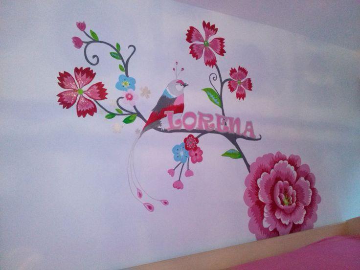 17 beste idee n over geschilderd behang op pinterest verf behang behangpapier schilderen en - Behang hoofdbord ...