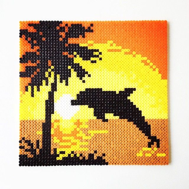 Sunset summer perler beads by perler_art