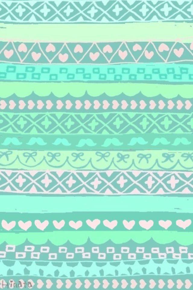 Mint green tribal print wallpaper | Cute Phone Wallpaper | Print wallpaper, Screen wallpaper, Cute wallpapers