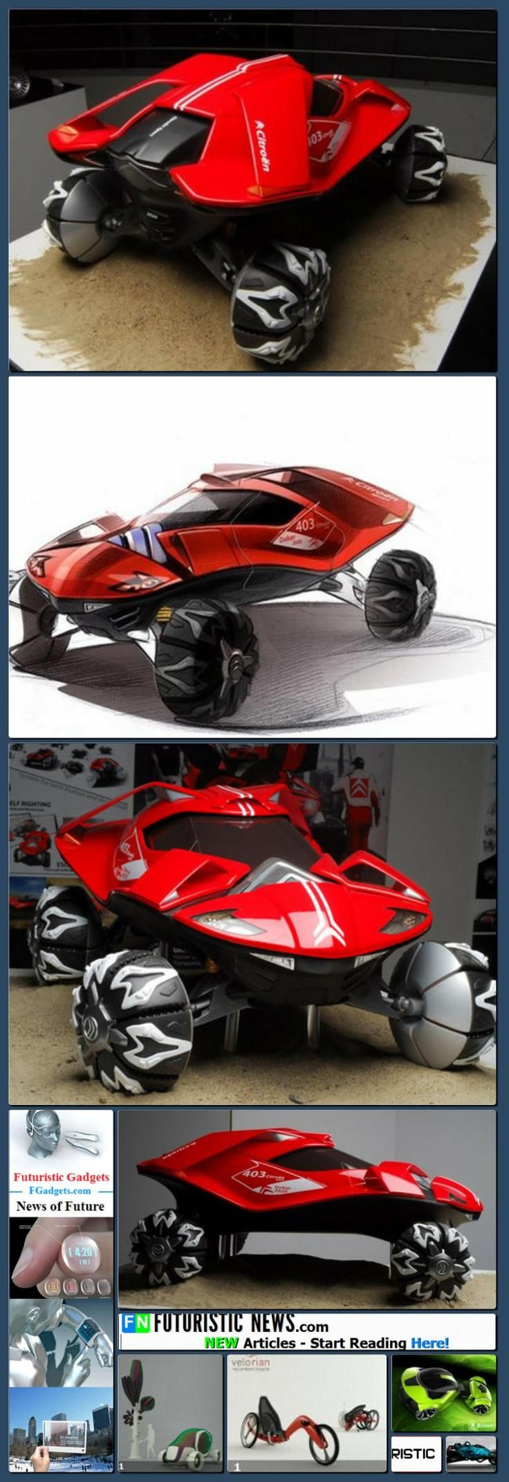 Likely cars of the future likely cars of the future http www - Future Transportation Citroen 2020 Dakar Rally Vehicle Concept By Chu Hyung Kwon Collage Made