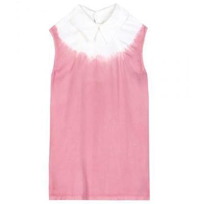 Miu Miu - Tie-dye sleeveless shirt #shirt #miumiu #offduty #designer #covetme