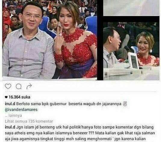 Jakarta, Obsessionnews.com - Penyanyi dangdut Inul Daratista dilaporkan ke Polda Metro Jaya oleh Pengurus Advokat Peduli Ulama. Hal ini terkait pernyataan Inul di media sosial (medsos) yang diduga m