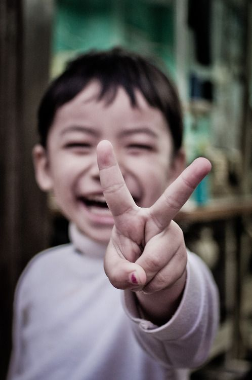 Smiling boy for peace :)