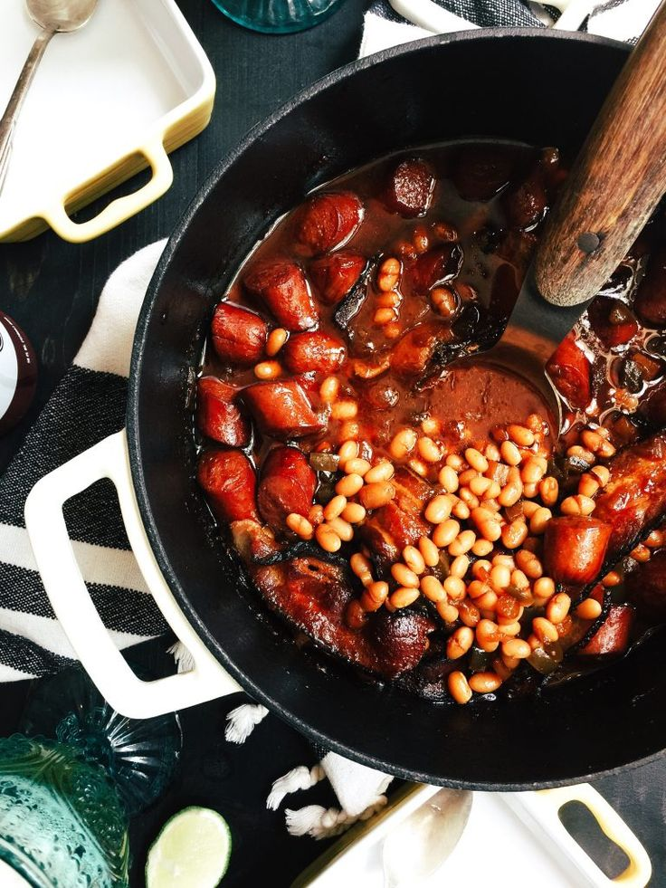 Franks and Beans.  Yes, Franks and Beans. | http://joythebaker.com/2016/07/franks-and-beans-yes-franks-and-beans/