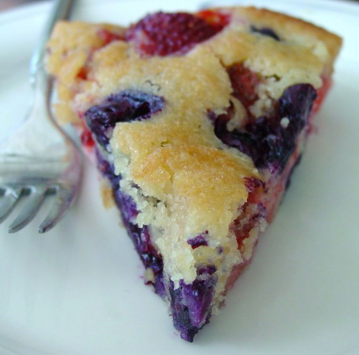 Vanilla Cake Mix And Blueberries: Strawberry Blueberry Cobbler