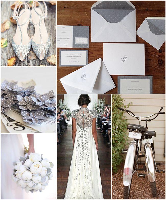 una boda sencilla y elegante con plumetti gris
